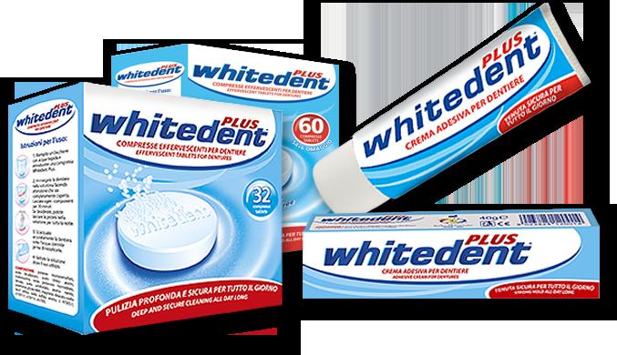 compresse effervescenti e crema adesiva per dentiere